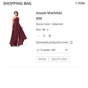ISO Azazie Mathilda Bridesmaid Dress in Cabernet